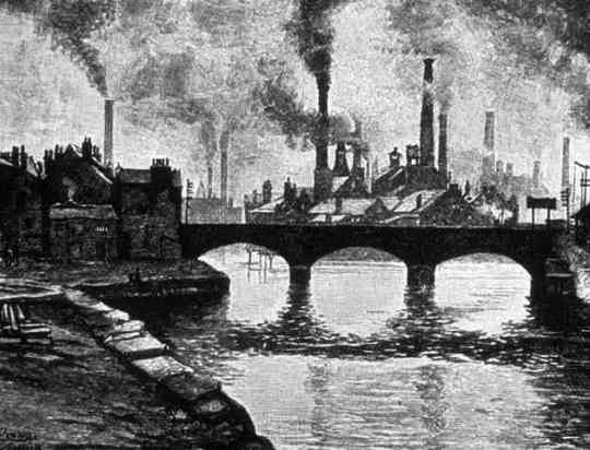 England Industrial Revolution illustration
